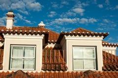 Красная крыша в Лиссабоне, Португалии Стоковая Фотография RF