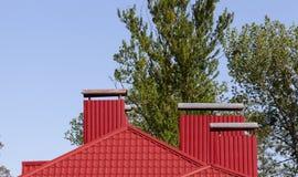 Красная крыша металла Стоковые Изображения