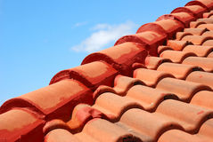 красная крыша стоковое фото rf