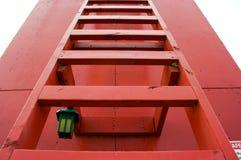красная лестница Стоковые Фото