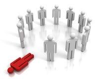 Красная людская диаграмма лежа из группы команды Стоковая Фотография