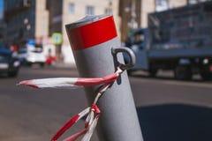 Красная метка дороги стоковое изображение rf