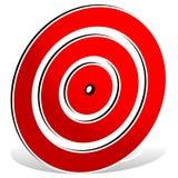 Красная метка цели - значок цели иллюстрация штока