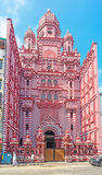 Красная мечеть Коломбо стоковая фотография