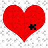 Красная мозаика сердца Стоковое Фото