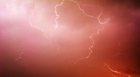 Красная молния Стоковые Изображения RF