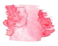 Красная нарисованная рука выплеска акварели иллюстрация вектора