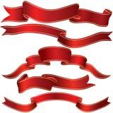 красная нашивка тесемки Стоковое Фото