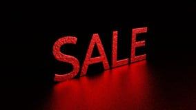 Красная надпись с отражением сбывание Графическая иллюстрация перевод 3d Справочная информация Стоковые Фото