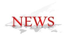 Красная новость Стоковая Фотография RF