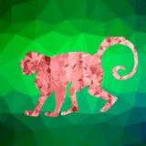Красная обезьяна мозаики Стоковые Фотографии RF