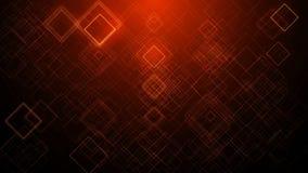Красная оживленная предпосылка moving квадратов сток-видео