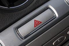 Красная опасность в интерьере автомобиля. Стоковая Фотография