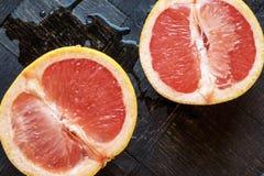 Красная оранжевая верхняя часть ландшафта половин Стоковое Изображение