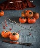 Красная оранжевая хурма Стоковое Фото
