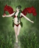 Красная орхидея бесплатная иллюстрация