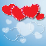 Красная открытка влюбленности Бесплатная Иллюстрация