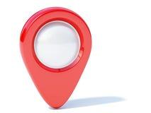 Красная отметка навигации Стоковые Изображения