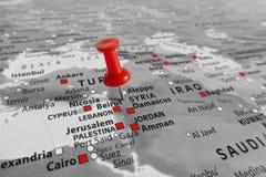 Красная отметка над Сирией Стоковая Фотография