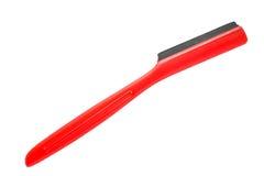 Красная одиночная бритва лезвия Стоковые Фотографии RF