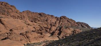 Красная панорама каньона утеса Стоковое Изображение