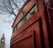 Красная переговорная будка Стоковые Фотографии RF