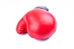 Красная перчатка бокса на белой предпосылке Стоковая Фотография RF