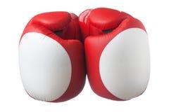 Красная перчатка бокса стоковое изображение rf