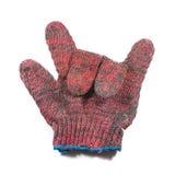 Красная перчатка руки стоковое изображение rf