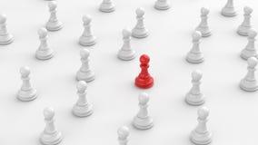 Красная пешка шахмат иллюстрация вектора