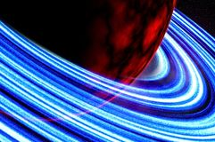 Красная планета или повреждает близкий взгляд изображения стоковая фотография