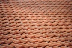 красная плитка крыши Стоковое Фото