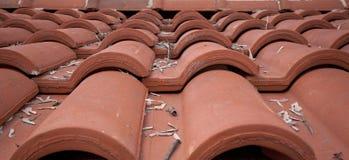 красная плитка крыши Стоковые Изображения