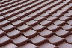 красная плитка крыши Стоковые Фото