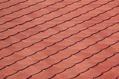 красная плитка солнца крыши Стоковое фото RF