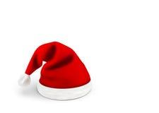 Красная поздравительная открытка шляпы Санта Клауса с местом для рекламы Стоковое Фото