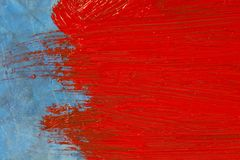 Красная покрашенная поверхность стоковое изображение rf