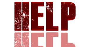 Красная помощь сатинировки с отражением стоковое фото