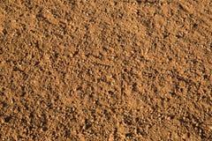 Красная почва смолотая в поле практики бейсбола Стоковая Фотография RF