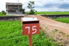Красная почтовая коробка Стоковые Фото
