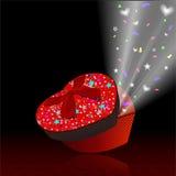 Красная подарочная коробка Стоковое Изображение