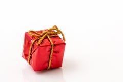 Красная подарочная коробка Стоковое Фото