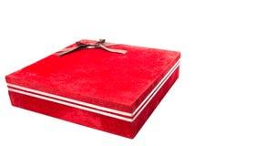 Красная подарочная коробка II Стоковое Фото