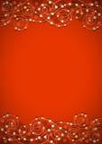Красная праздничная предпосылка Стоковая Фотография RF