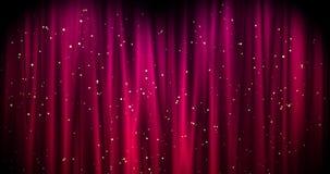 Красная предпосылка веселого рождества с золотыми звездами День Walpaper Валентайн безшовная петля видеоматериал