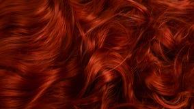 Красная предпосылка волос Курчавые красные волосы стоковое изображение rf
