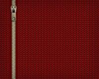 Красная предпосылка вязать jersey с шить вспомогательную молнию бесплатная иллюстрация