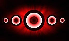 Красная предпосылка громкоговорителя Стоковые Фотографии RF