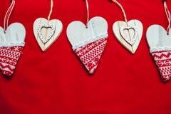 Красная предпосылка, предпосылка для текста, Нового Года, изображения рождества, красивого сердца Стоковые Фото