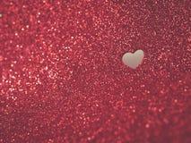 Красная предпосылка дня валентинок яркого блеска Стоковые Изображения